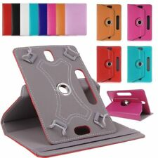 "Adjustable Rotation Leather Stand Case Cover For Android Tablet 10.1"" 10"" 9 8 7"""