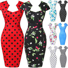 Nou Retro Pin up Vintage Rockabilly années 50s Swing crayon bodycon Robes de bal