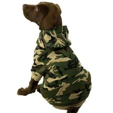 LARGE BREED Dog Hoodie Green Camo - Jumper Puppy Pet Coat Jacket Clothes Warm