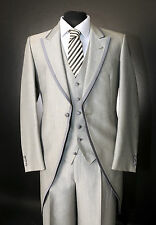 MJ-71s LIGHT GREY WILVORST TWO PIECE TAILS SUIT WEDDING / ASCOT / FORMAL EVENT