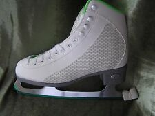 Riedell Model 113 Sparkle ladies Lime/White Soft Ice Skates