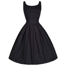 Women 50s 60s Retro Rockabilly Pinup Housewife Swing Party Evening Dress