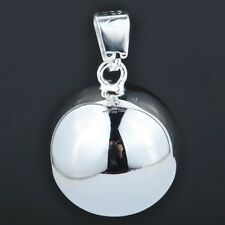 """Sterling Silver 925 """"Smooth Harmony Ball"""" Pendant & Necklace, 18 Inches"""