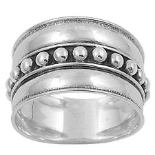 Sterling Silver Rivet Tribal Bali Band Ring RP438