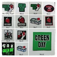 Green Day Sew Iron On Patch Embroidered Punk Rock Band Heavy Metal Music Logo