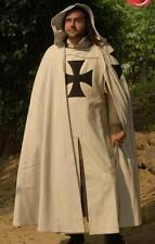 MEDIEVAL KNIGHT CRUSADER Middle Ages TEUTONIC CLOAK CAPE with HOOD TUNIC SURCOAT