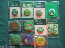HALLMARK PIN St Patricks Day Holiday PINBACK BUTTON PIN YOU CHOOSE YOUR PIN-B1