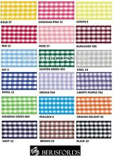 BERISFORDS GINGHAM CHECK RIBBON 25MM WIDE 18 COLOURS- 1 METRE TO A FULL ROLL