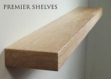 SOLID OAK FLOATING SHELF FIREPLACE MANTEL MANTLE BEAM WALL SHELVES 7 x 2.5 INCH