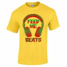 Feed Me Beats House Dub Grime D&B Rave Hardcord Music Festival Party Men T Shirt