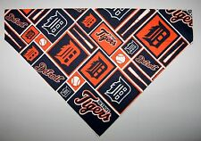 MLB Detroit Tigers Dog Bandana Scarf – Slide over Collar – Size Small to XLarge