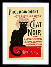 THEATRE AD STAGE CABARET BLACK CAT SALIS PARIS FRANCE FRAMED PRINT F12X2452