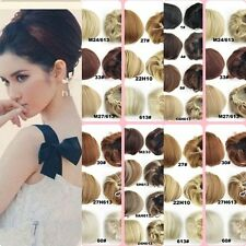 Vogue Women Bride Dish Hair Buns Synthetic Chignon Hairpiece Bud Hair Extensions