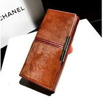 Hot Fashion Horse Hair Leather Girl Lady Women Purse Wallet Clutch Card Holder
