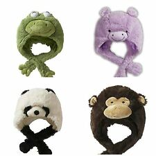 Pillow Pets hats-authentic Pillow Pet Kids hats-dog, Rana, Hipopótamo, Panda, Mono
