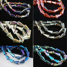 Lots 10/20Pcs Faceted Glass Crystal Teardrop Loose Spacer Beads Finding 16x8x4mm