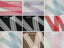 wedding 10/20/50/100 yards embroidery lace ribbon colors can be selected 8color