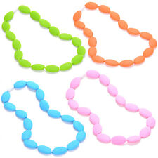 Silicone Teething Nursing Breastfeeding Necklace chew chewable jewelry for Moms