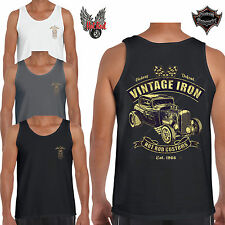 Hot Rod Vintage Iron UOMO CANOTTA TANK TOP T SHIRT V8 FORD COUPE ratto MUSCLE CAR 62