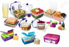 SISTEMA LUNCH BOX SALAD TO GO PICNIC SANDWICH BOXES DRINK BOTTLES