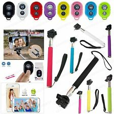 Bluetooth Shutter Remote And Selfie Stick For iPhone 4 5 6 6Plus Galaxy S4 S5 S6
