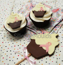 4+1 Cupcake Silicone Chocolate Candy Bar Bakeware Mould Lolly Cookie Birthday