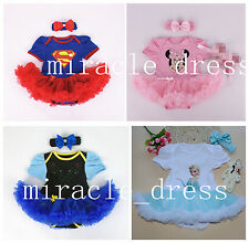 GIRLS TODDLER PRINCESS FANCY DRESS UP COSTUME BIRTHDAY Hairband DRESS OUTFITS