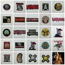 IRON MAIDEN Sew Iron On Patch Embroidered Rock Band Heavy Metal Music Logo Badge