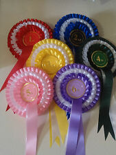Set of Quality Rosettes 1st to 6th Handmade to order