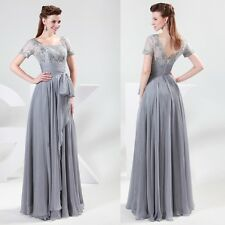 Vintage Retro Lace Applique Long Mothers Wedding Party Evening Prom Gown Dresses