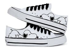 Women's Hand-painted Cute Cartoon Dog comfortable Canvas Shoes