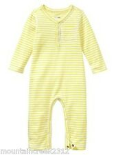 New BABY GAP ~ Striped Long Sleeve One Piece Romper ~ Yellow ~ 6 12 months Baby