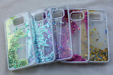 for SAMSUNG GALAXY S6 SAND ART GLITTER STAR 3D CLEAR CASE COVER PURPLE PINK BLUE