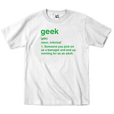 Geek Definition Funny Computer Nerd Boss College Work Party Humor-Mens T-Shirt