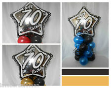 NEW 70th BIRTHDAY PARTY AGE 70 BALLOON DECORATION TABLE CENTRE PIECE DISPLAY