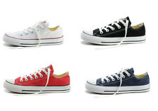 Womens Ladys WHITE ALL STARS Chuck Taylor Ox Low Top Shoes Canvas Sneakers