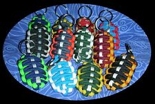 550 Paracord FOOTBALL SHAPED Sports Team KEYCHAINS - Seahawks Packers Cowboys ++