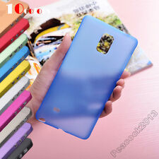 For Samsung Galaxy Note4 TPU Case Ultra Slim 0.3mm Matte Scrub Translucent Multi
