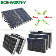 Foldable Solar Panel Complete Kit 80W 100W 120W 12V Folding Portable Off Grid RV