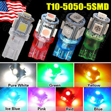 1 5 20 100PCS T10 WEDGE NEW 5050 SMD LED bulb License Plate Tag & Interior Light