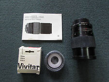 Minolta  Rokkor 135mm f/2.8  Lens  + booklet + Vivitar Filter