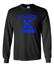Long Sleeve Adult T-Shirt New Coach K 1000 Wins Basketball Champions Game DT