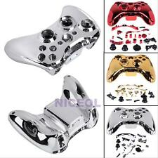 Wireless Controller Case Shell Protect Cover Buttons For XBOX 360 Chrome Plating