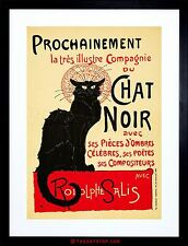 THEATRE AD STAGE CABARET BLACK CAT SALIS PARIS FRANCE FRAMED PRINT F97X2452