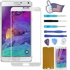 for Samsung Galaxy Note 4 Front Screen Glass Lens Replacement + Tools Kit White