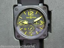 Bell & Ross BR 01-94 Chronograph Yellow, Limited Edition to 500 Pieces -PVD Case