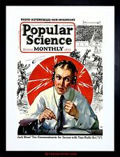 SCIENCE MAGAZINE COVER POPULAR MONTHLY RADIO FOOTBALL FRAMED PRINT F97X6287