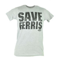 Save Ferris Buellers Day Off Distressed Comedy Movie Grey Text Tshirt Tee