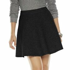 LC LAUREN CONRAD BLACK QUILTED CIRCLE SKIRT SIZE X-SMALL;NEW