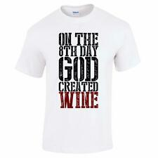 On the 8th Day God Created Wine Funny Fathers Day Mens Drinking T Shirt